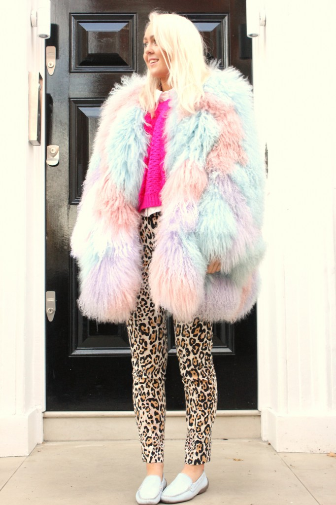 topshop_meadham_kirchhoff_collaboration_fur_heart_mongolian_fur_pastel_coat_marabou_pink_jumper_leopard_print_trousers