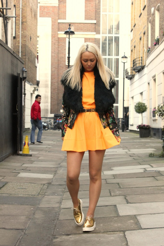 topshop_premium_leather_painted_jacket_topshop_boutique_orange_crepe_two_piece_zara_gold_brogues_fur_stole