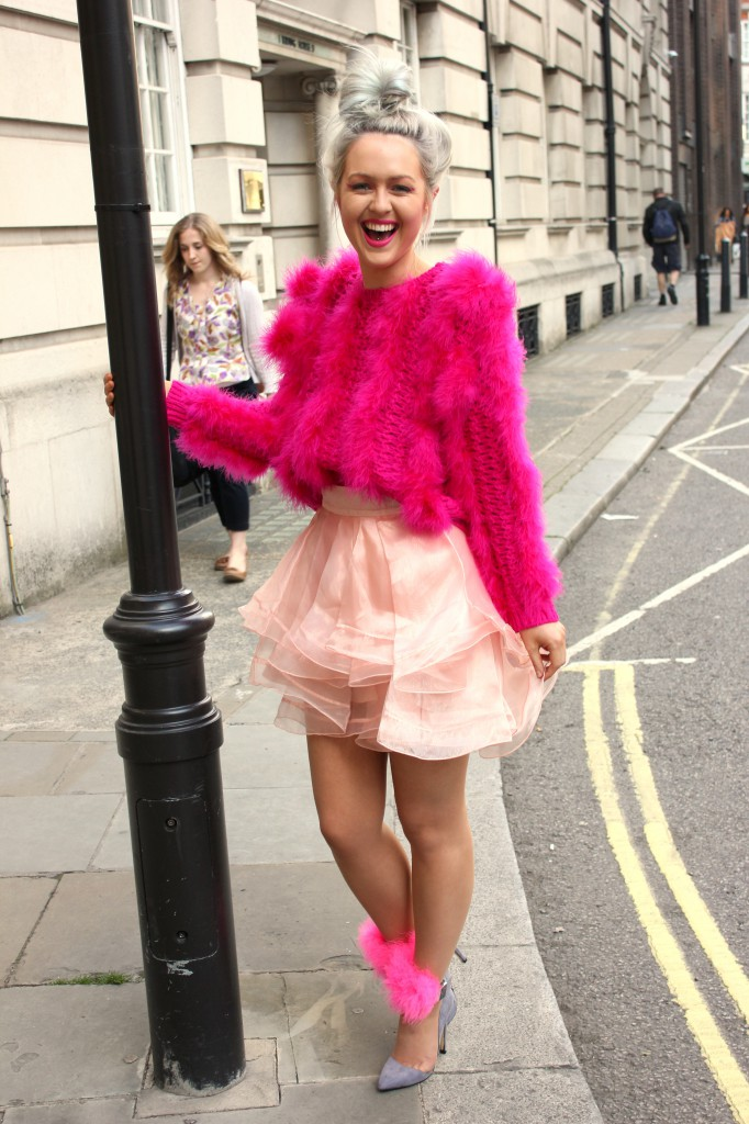 meadham_kirchhoff_topshop_fur_heart_coat_mongolian_pastel_moschino_belt_maurie_and_eve_swimsuit_marabou_feather_shoot_topshop_jumper