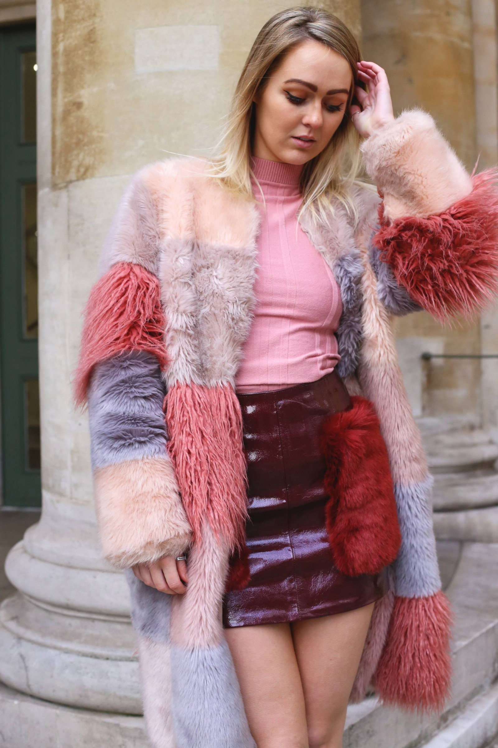 asos_shearling_pink_pastel_coat_fur_mini_skirt_patent_leather_pie_and_fash