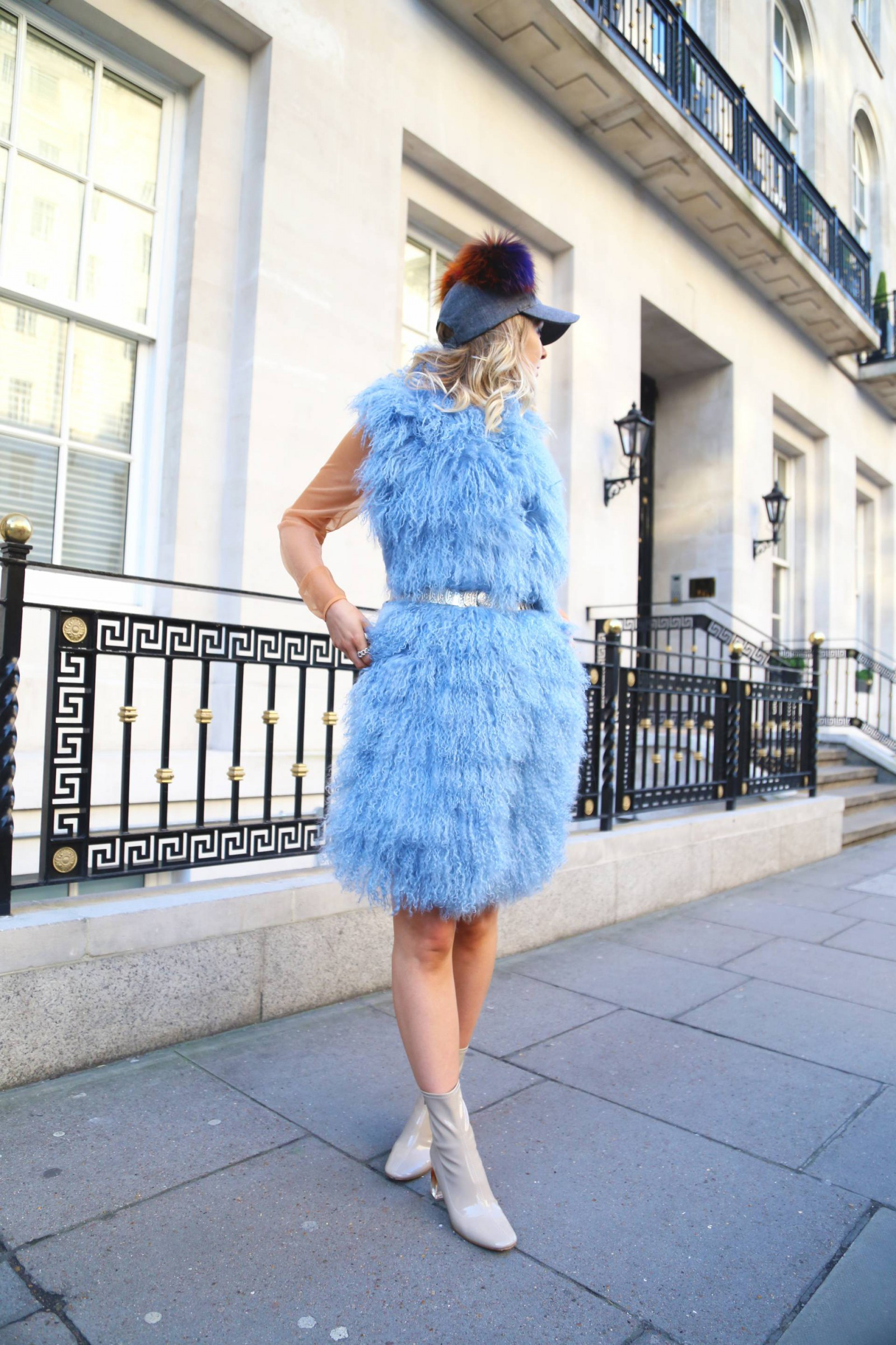 charlotte_simone_candy_floss_wrap_blue_zara_patent_dior_boots_pom_pom_cap_pie_and_fash_daisy_keens