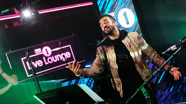 Craig David performing in the Radio 1 Live Lounge.